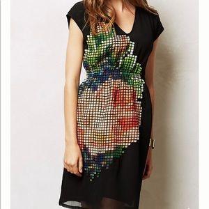 Anthropologie | pixelated fleur Dress